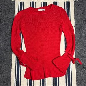 LOFT Red Sweater XS